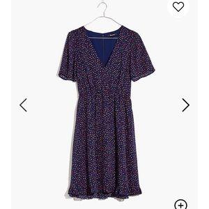 Madewell Flutter Sleeve Ruffle Hem Dress